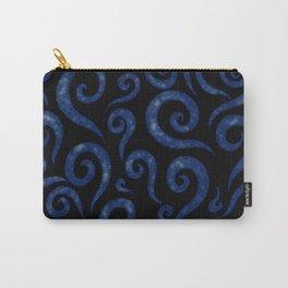 Blue Swirls Pattern Carry-All Pouch