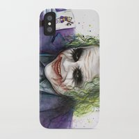 joker iPhone & iPod Cases featuring Joker  by Olechka