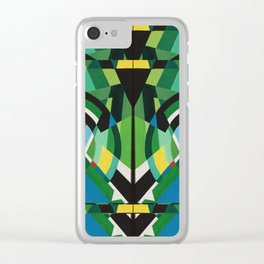 greens mirror Clear iPhone Case