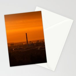 Sunset over the city Stationery Cards