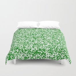 Tiny Spots - White and Green Duvet Cover