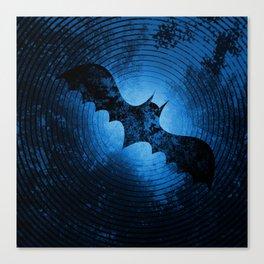 Bat Waves Canvas Print