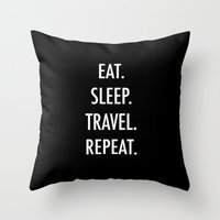 eat Throw Pillows featuring Eat by I Love Decor