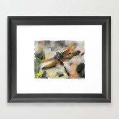 Dragonfly Garden - Framed Art Print