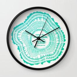 My List – Turquoise Ombré Wall Clock