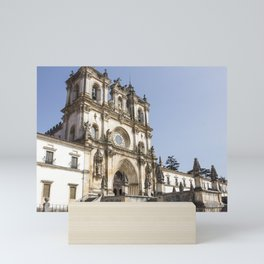 View of the beautiful Alcobaca Monastery during the day with clear sky. Mini Art Print