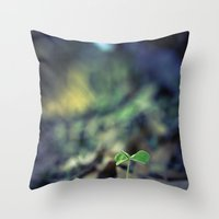 clover Throw Pillows featuring Clover by Love2Snap