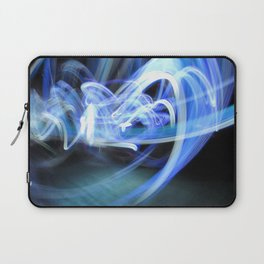 (Mostly) Blue Light Painting Laptop Sleeve
