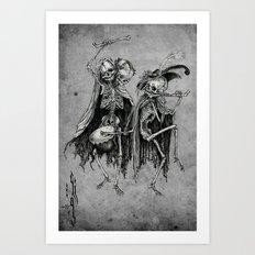 Danse Macabre (variation) Art Print