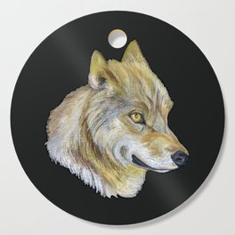 Mongolian Wolf Cutting Board