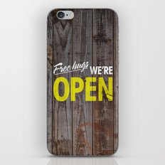 Free Hugs We're Open iPhone & iPod Skin