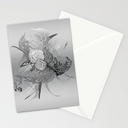 50 Shades of lace Silver Silver Stationery Cards