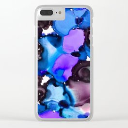 Moon Stone Cold Clear iPhone Case