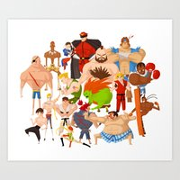 street fighter Art Prints featuring Street Fighter by Peerro