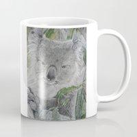 koala Mugs featuring Koala by Cordula Kerlikowski