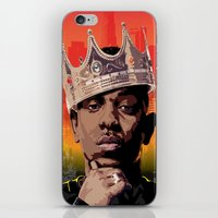 kendrick lamar iPhone & iPod Skins featuring King Kendrick by Tecnificent