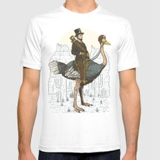 The Lone Ranger Mens Fitted Tee White SMALL