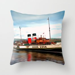Waverley Paddle Boat (Painting) Throw Pillow