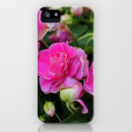 Stardust Double Impatiens iPhone Case