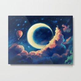 Balloon Moon Metal Print