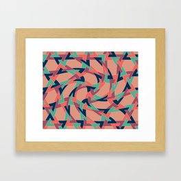 Lens on Geometric pattern 1977 Framed Art Print