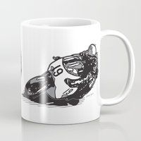 cafe racer Mugs featuring RACER 19 by Ernie Young