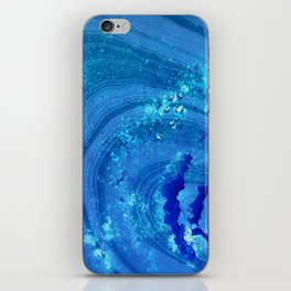Blue Abstract Modern Art - Infinity - Sharon Cummings iPhone Skin