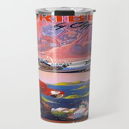 Vintage poster - Caribbean Travel Mug