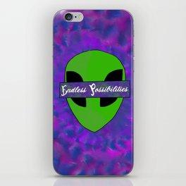Endless Possibilities Alien Head Logo tye-die trip iPhone Skin