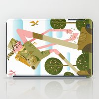 moonrise kingdom iPad Cases featuring Moonrise Kingdom by Gabriela Zurda