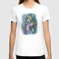 princess peach T-shirts featuring Princess Peach by Karen Hallion Illustrations
