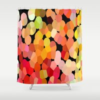 confetti Shower Curtains featuring Confetti by Rosie Brown