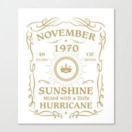 November 1970 Sunshine mixed Hurricane Canvas Print