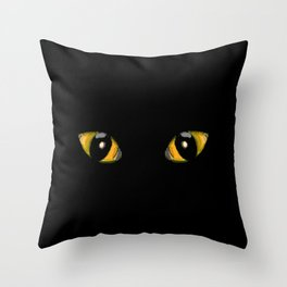 Halloween Cat Eyes Throw Pillow