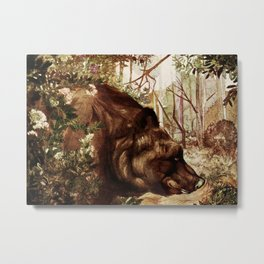 """Baloo"" the Bear from Kipling's Tales of India Metal Print"