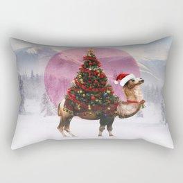 Santa Camel Rectangular Pillow