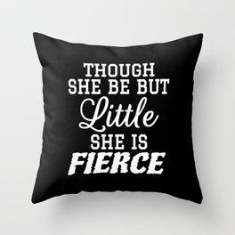Little & Fierce (Black & White) Throw Pillow