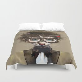 Steampunk Cat Duvet Cover