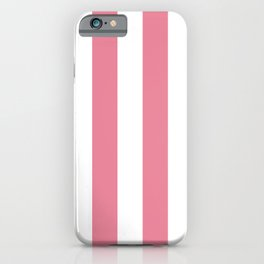 Vertical Stripes Pink & White iPhone Case