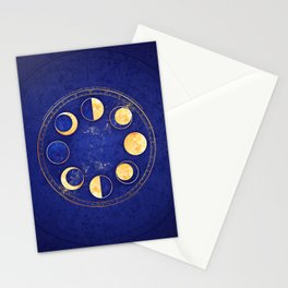 Celestial Atlas :: Lunar Phases Stationery Cards