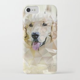 Golden Retriever (Low Poly) iPhone Case