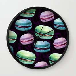 Glam Macarons Wall Clock