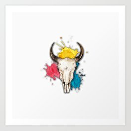 Watercolor Skull Art Print