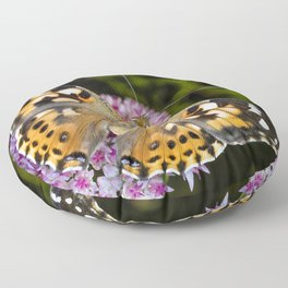 Painted Lady Butterfly 0923 Floor Pillow