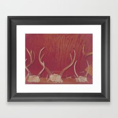 Great Grandpa's Antlers Framed Art Print
