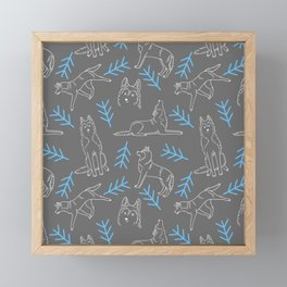 Siberian Husky Pattern Framed Mini Art Print
