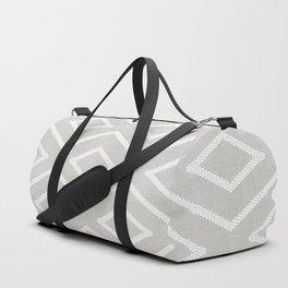 Stitch Diamond Tribal Print in Grey Duffle Bag