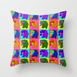 Colorful Unicorn Pattern Throw Pillow