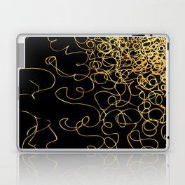 swirly gold gradient Laptop & iPad Skin