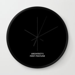 My First Polyline -Architect First Polyline Wall Clock